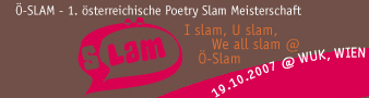 Ö-Slam - 1. österreichische Poetry Slam Meisterschaft